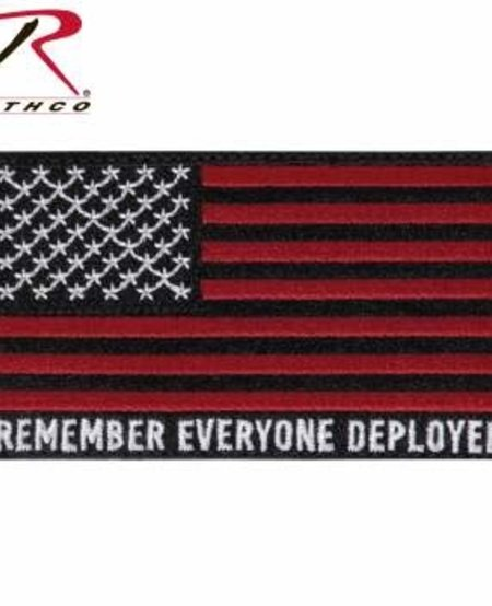 R.E.D. (Remember Everyone Deployed) Flag Patch with hook back