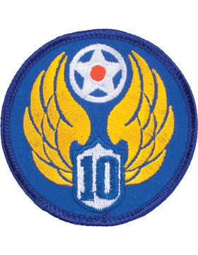 Military 10th Air Force WWII Patch