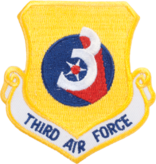 Military 3rd Air Force Shield Patch
