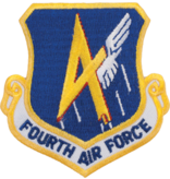 Military 4th Air Force Shield Patch