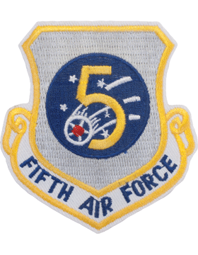 Military 5th Air Force Shield Patch