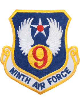 Military 9th Air Force Shield Patch