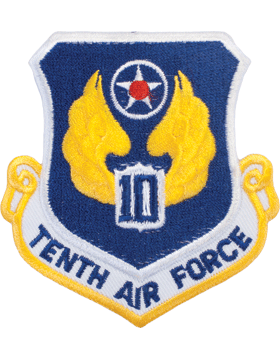 Military 10th Air Force Shield Patch