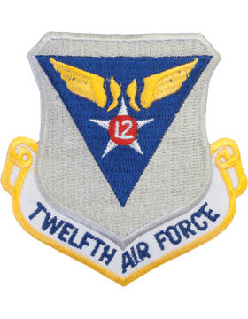 Military 12th Air Force Shield Patch