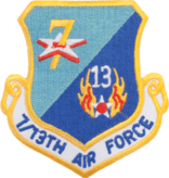 Military 7th Battalion 13th Air Force Shield Patch