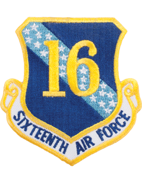 Military 16th Air Force Shield Patch