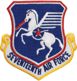 Military 17th Air Force Shield Patch