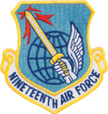 Military 19th Air Force Shield Patch