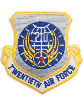 Military 20th Air Force Shield Patch