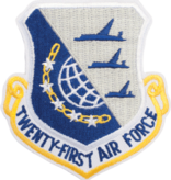 Military 21st Air Force Shield Patch