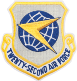 Military 22nd Air Force Shield Patch