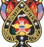 """Military Marine Corps Spade 4"""" Patch"""