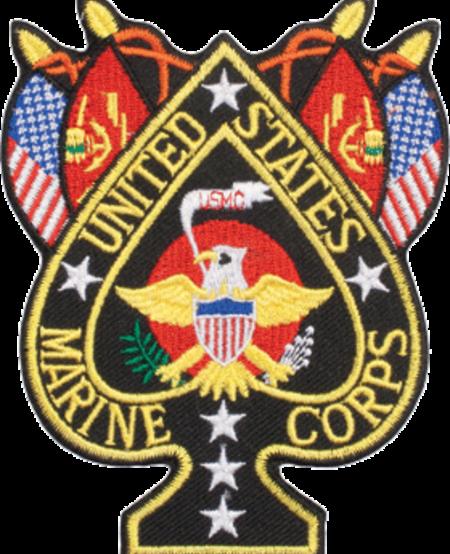 "Marine Corps Spade 4"" Patch"