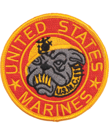 "Marine Bulldog 3 1/2"" Patch"