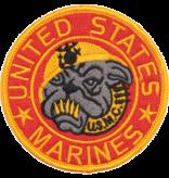 "Military Marine Bulldog 3 1/2"" Patch"