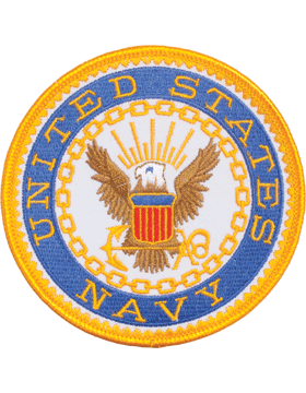 """Military US Navy with Eagle 4"""" Patch"""