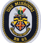 Military USS Missouri BB 64 Oval Patch 4 3/4""