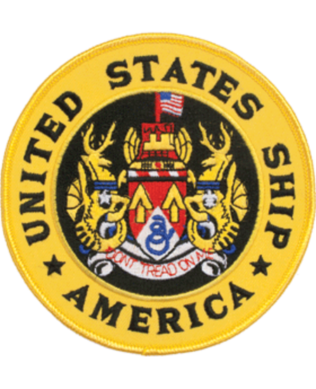 """US Ship American Patch 5"""""""
