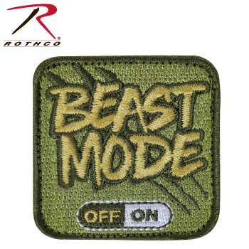 Rothco Beast Mode Patch w/Hook Back (velcro)