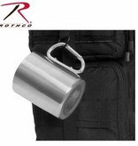 Rothco Insulated Stainless Steel Portable Camping Mug w/Carabiner Handle - 15 OZ