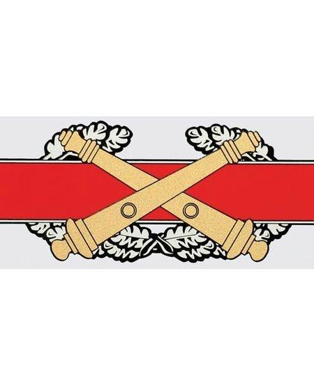 """Combat Artillery Badge 6.5"""" Window Decal"""
