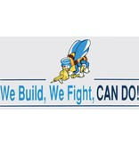 Mitchell Proffitt Seabees We Build, We Fight Window Decal