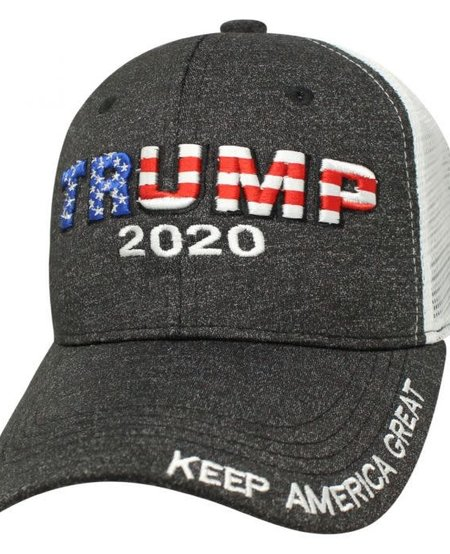 Trump 2020 - Raised Snap/Mesh Back Hat