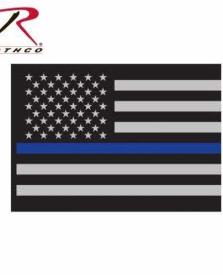Thin Blue Line Flag Decal