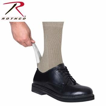 "Rothco 6"" Stainless Steel Shoe Horn"