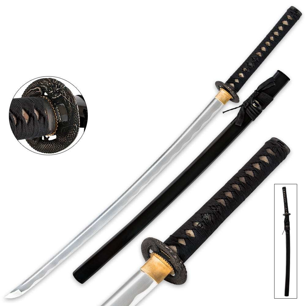 Dragon Warrior Samurai Katana with Scabbard