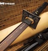 Shinwa Black Knight Handmade Katana Samurai Sword - Damascus Steel