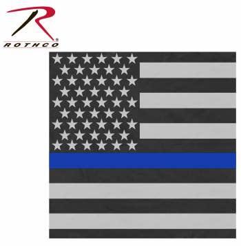 Rothco Thin Blue Line Bandanna