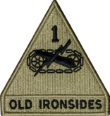 Military 1st Armor Division Patch