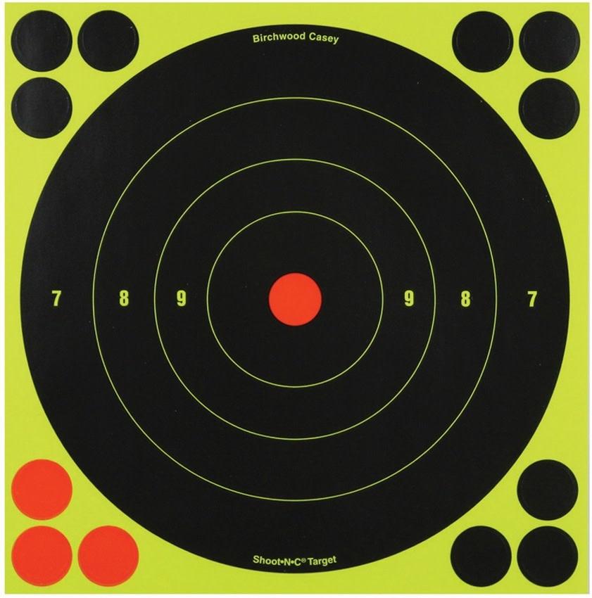 Birchwood Casey Shoot-NC 8 in. Bullseye Target