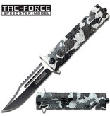 Tac-Force Snow Camo Spring Assisted Knife