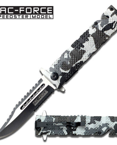 Snow Camo Spring Assisted Knife