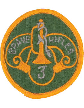 Military 3rd Cavalry Regiment Patch