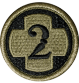 Military 2nd Medical Brigade Patch