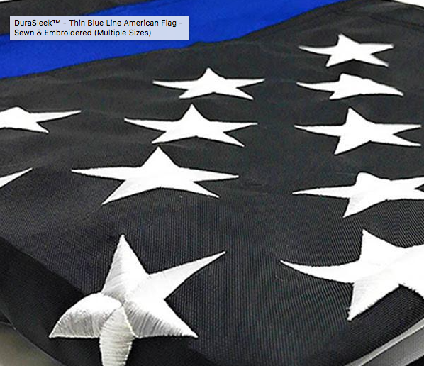 Thin Blue Line Thin Blue Line Embroidered Flags (Polyester)