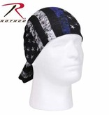 Rothco Thin Blue Line Multi-Use Neck Gaiter and Face Covering Tactical Wrap