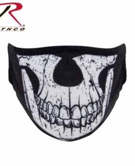Half Skull Reusable 3-Layer Polyester Face Mask
