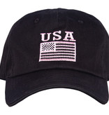 Fox Outdoor Products USA Flag Emboridered Ball Cap - Pink & Black