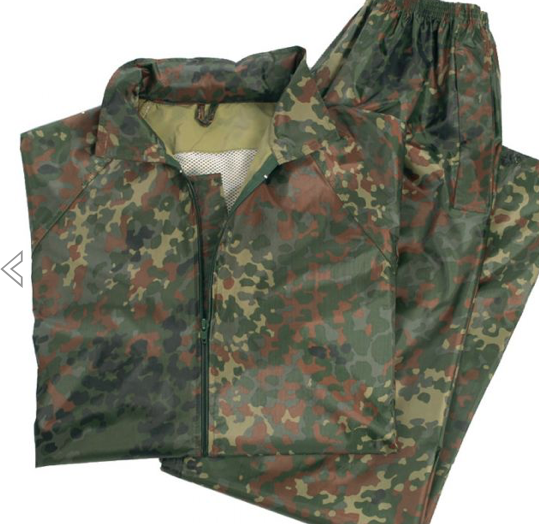 German Flectar Camo Wet Weather Suit (Jacket & Pants Included)