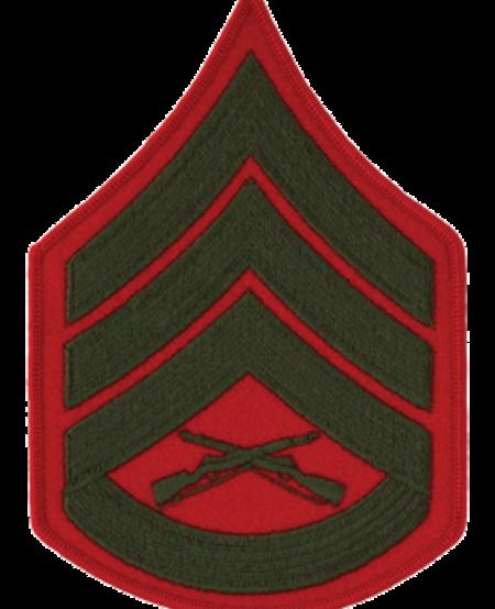 Green/Red Staff Sergeant USMC Patch