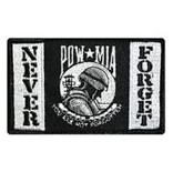 Eagle Emblems POW never forget