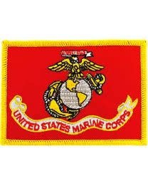 Eagle Emblems Marines Flag Patch