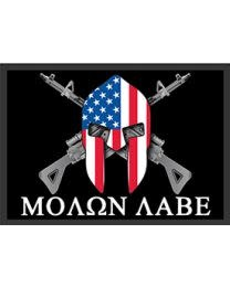 Eagle Emblems Molon Labe Rifles Patch