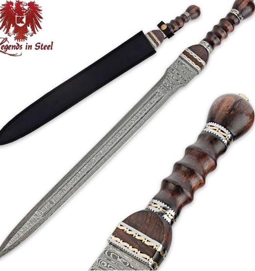 Legens in Steel Historical Damscus Gladiator Sword