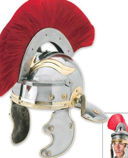 Roman Centurion Helmet w/Red Horse Hair Crest