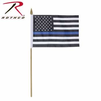 Thin Blue Line 4 x 6 Stick Flag